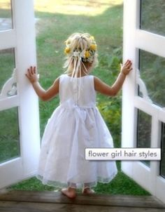 Wedding Flower Girl Hairstyles