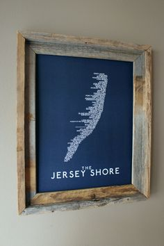The Jersey Shore Word Map (Dark Blue) by fortheloveofmaps on Etsy