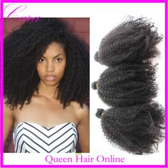 Cara virgin mongolian tight curly hair 4pcs or 5pcs lot mongolian afro kinky curly virgin hair extension free shipping-in Hair Weaves from B...