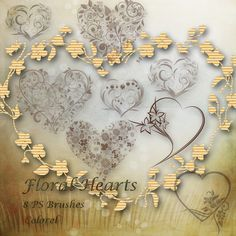 Floral hearts by libidules.deviantart.com