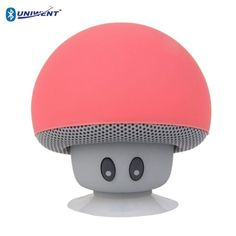 A cute lil' mushroom BlueTooth speaker that has a built-in mic and a suction cup so you can stick it on any surface.