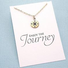 Graduation Gifts for Her | Compass Necklace, Compass Rose, Graduation Gifts, Class of 2017, Student Gift, College Student, High School | G02