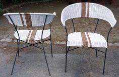 Porch chair transformation with spray paint & stripes  | Year of Serendipity