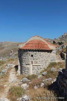 Aghia Paraskevi in Chora Castle on the island of Kalymnos in Greece Kos, Islands, Greece, Castle, Cabin, House Styles, Beauty, Beautiful, Home Decor