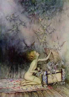 drawn from the moon: Arthur Rackham