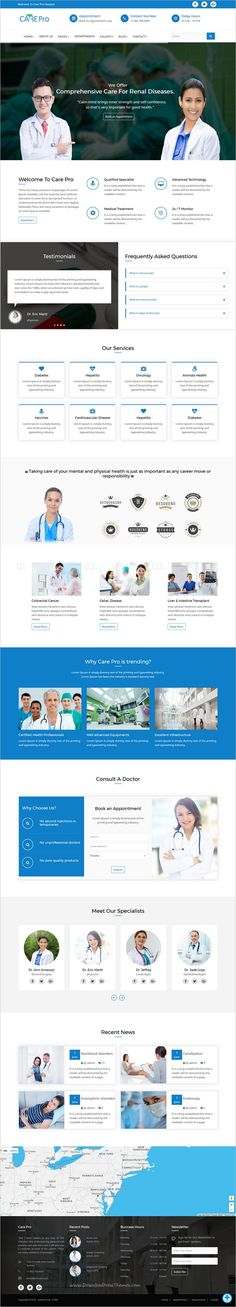 Care pro is a modern design responsive HTML Bootstrap theme for #webdev #medical, small #clinics like Gynecology, Cardiology, dental hospitals website with 6 different homepage layouts download now➩ https://themeforest.net/item/care-pro-medical-template/19253365?ref=Datasata