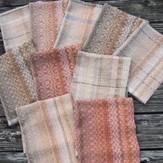 Creeks of Missouri Towels. Set of 10, each one different. 14 shaft complex twill threading.