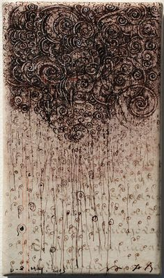 "takahikohayashi: "" D-8.May.2003 15x8.7cm pen drawing on parchment 林孝彦 HAYASHI Takahiko 2003 """