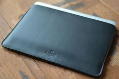 11 MacBook Air Leather Sleeve Case and Wool Felt by HarberLondon