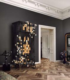 PICCADILLY CABINET By Boca do Lobo   www.bocadolobo.com #luxuryfurniture #interiordesign #inspirations #homedecorideas #exclusivedesign #contemporarylivingroom #cabinet