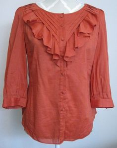 0f18d062ae933 Maeve Anthropologie Women s ruffle front blouse Size 2  Anthropologie   Blouse