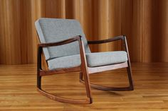 Rare and stunning Ole Wanscher rosewood rocking chair - model FD120 - manufactured by France and Son, Denmark. twentiethcenturyantiques.co.uk