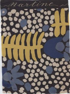 Textiles designed by Raoul Dufy (1877-1953), c. 1911. Poiret continued to use Dufy's designs for Bianchini in his collections; summer 1920 collection employed Dufy's fabrics exclusively.