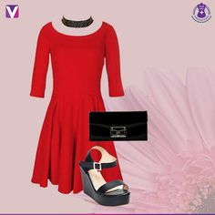 6c51277faab9 Red Skater Dress, Dress Up, Western Look, Industrial Style, Blood, Plus  Size Dresses, Plus Size Women, Friday, Curves. Voonik