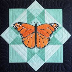 Butterfly 3D Customized Quiltis unique design using high quality thread; all stitches are even, tight and dense which makes it durable. A traditional double-fold coordinating binding with decorative stitching around the edges ensures this quilt will stand the test of time! BrightRoomy design is a design that is different by using good quality thread; almost all stitches are dense, tight, and even making it long-lasting. A regular double-fold coordinating binding with decorative stitching within Applique Patterns, Applique Quilts, Quilt Patterns, Applique Ideas, Quilting Ideas, Butterfly Quilt Pattern, Butterfly Template, Baby Boy Crib Bedding, Orange Butterfly