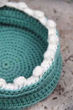 Various edgings for Crochet Baskets, free pattern by creJJtion