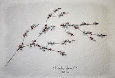 magnifique branche de fleurs de cerisier du japon en fil de fer recuit by latelierdesof - sur commande - artisanat d'art Wire, Cherry Blossom, Flowers, Japanese Cherry Tree, Craft Art, Sons, Drift Wood, Atelier