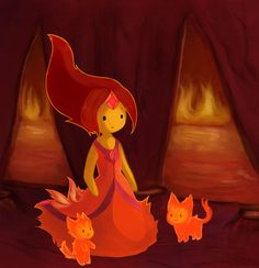Flame Princess by TracyTheWhiteCat