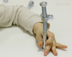 Easy Fine Motor Activity with Nuts & Bolts - Fun-A-Day!