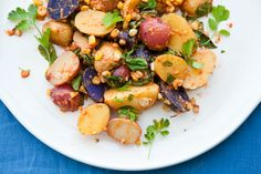 Sweet Corn and Roasted Red Pepper Potato Salad // The Year in Food