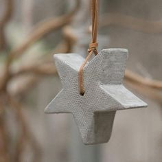 Simple and chic, this little concrete star makes an understated festive statement. They also make gorgeous and affordable gifts, and could be hung year-round.