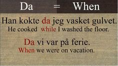 """da"" 
