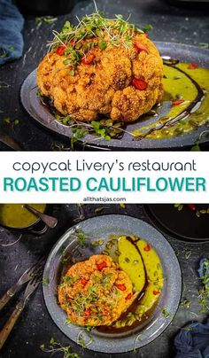 You'll love this copycat recipe for Roasted Cauliflower with Gastrique Sauce, especially if you're vegan or gluten-free. It is easy, healthy, delicious and perfect for a romantic first course, side or a vegan main dish. | allthatsjas.com | #appetizer #glutenfree #vegan #cauliflower #latin #liveryrestaurant #copycat #recipes #allthatsjas #roasted #gastrique #guacamolesalsa #healthy #recipeofthemonth #valentinesday Best Vegetable Recipes, Vegetable Side Dishes, Vegetarian Recipes, Healthy Recipes, Vegan Vegetarian, Yummy Appetizers, Appetizer Recipes, Dinner Recipes, Vegan Cauliflower