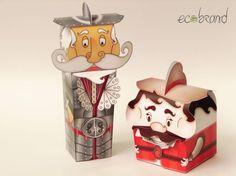 Quijote y Sancho Panza. Empaque para alimentos, Mes de los niños - Diseño http://www.ecobrand.com.co/  para Toledo Pastelería / Food Packaging, Kids Month - ECOBRAND design for Toledo Pastelería