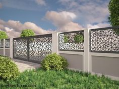 Nexus - Mild Steel Laser Cut Gate and Fence - Gate+Fence