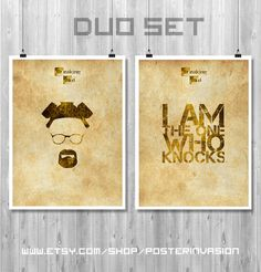 Breaking Bad duo posters  Ideal for a gift or to enhance any geek decor with posters of this famous TV serie  Choice of DUOs  DUO 1 . Walter White