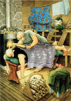 Christmas Illustration, Illustration Art, Art Sculpture, Whimsical Art, Funny Art, Old Women, Art Pictures, Photos, Oeuvre D'art