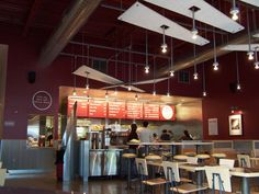 chipotle interior design | The completed restaurant has all of the branded elements that create a ...