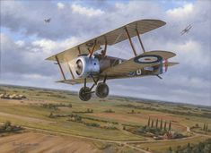 1918 RAF 54 Sqn Sopwith Camel - Russell Smith Sopwith Camel number on approach to Clairmarais aerodrome on April was assigned to RAF, which was based at Clairmarais during this period. Airplane Art, Airplane Drawing, Aircraft Painting, World War One, Nose Art, Fighter Aircraft, Aviation Art, Military Art, Military Aircraft