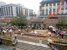 姫路駅ピオレ前で「フラッシュモブ」-公共庭園の完成祝う市民ら歌い踊る