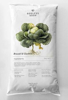 Broccoli & Zucchini. Soulful Soup food packaging // Truly Deeply