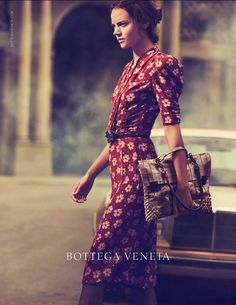 Freja Beha Erichsen in Bottega Veneta Spring 2013 Campaign by Peter Lindbergh