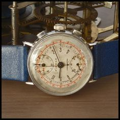 1940's PIERCE [Swiss] Vintage Military Chronograph Watch 17j HW Pierce Cal. 134 | eBay