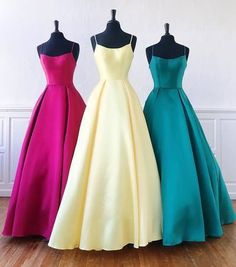 Unique Long Satin Scoop Neck A Line Graduation Dress, Bridesmaid Dress from Sweetheart Dress Bodycon Dress Parties, Sexy Party Dress, Winter Formal Dresses, Bridesmaid Dresses, Prom Dresses, Sweetheart Dress, Satin, Dresses For Teens, Get Dressed