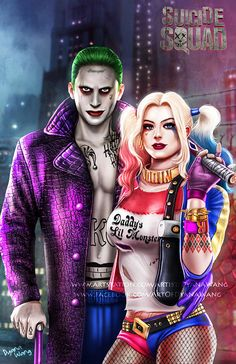 Joker and Harley Quinn by DyanaWang.deviantart.com on @DeviantArt