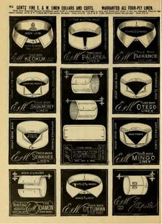 Where to buy Victorian detachable collars and shirt cuffs