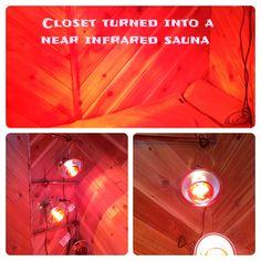 Closet Turned Into A Near Infrared Sauna. Healing And Detox. Arthritis,  Cancer,