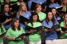 Singing at the Spring Concert!