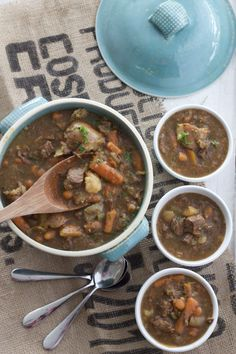 """There's nothing like a big pot of stew for dinner on a cold day. Instant Pot Beef Stew is a meal everyone can make. If you can chop, you can make this recipe! Whenever I read a recipe for """"easy"""" beef Recipes Using Stew Beef, Easy Beef Stew, Soup Recipes, Dinner Recipes, Instant Pot Pressure Cooker, Pressure Cooker Recipes, Pressure Cooking, Slow Cooker, Kitchen Recipes"""