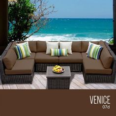 TKC Venice 7 Piece Outdoor Wicker Patio Furniture Set *** This is an Amazon Associate's Pin. Details on product can be viewed on Amazon website by clicking the image.