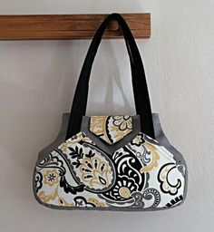 Modern Purse Urban Bag Tote Over Shoulder by SewTwistedSisters