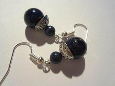 Pendentifs d'oreilles, Bo Lapis Lazuli III est une création orginale de Creations-de-Caroline sur DaWanda