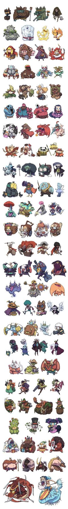 Characters designed originally for a cardgame mobile app, sadly canceled