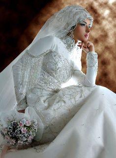Indonesia muslim wedding dress