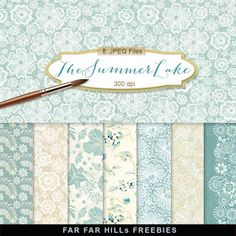 Far Far Hill - Free database of digital illustrations and papers: New Freebies Kit of Backgrounds - The Summer Lake