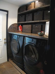 Laundry room - Table built above washer and Dryer
